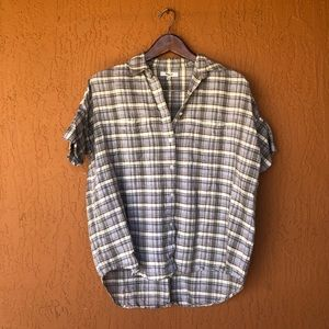 70s Vibe Plaid Madewell Button Down Central Shirt